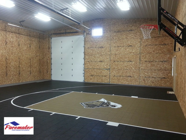 Ideas to consider before building an indoor gym for Indoor half court basketball cost