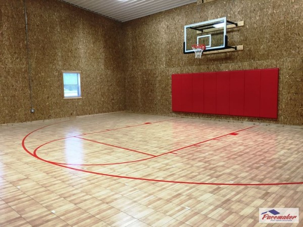 Ideas to consider before building an indoor gym for How to build basketball court