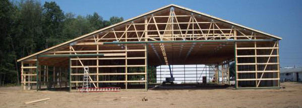 Free storage shed plans 12x12 how to build a pole barn on for Post frame building plans