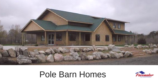 Pole barn homes for Images of barn homes