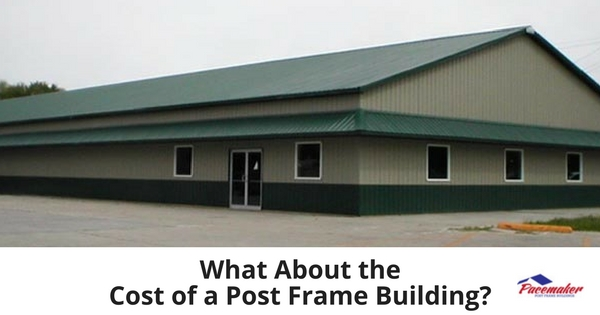 What about the cost of a post frame building for A frame house construction cost